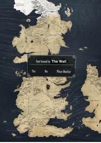 How everyone except the White Walkers has been traveling in Westeros 😂 #GameOfThrones https://t.co/4uoHLsyd9z: Fast travel to The Wall  e |N Yes No Place Marker How everyone except the White Walkers has been traveling in Westeros 😂 #GameOfThrones https://t.co/4uoHLsyd9z