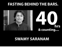 Rahul Easwar fasting behind the bars, 40hrs & Counting. Team #SaveSabarimala: FASTING BEHIND THE BARS.  40  hrs  & counting....  SWAMY SARANAM Rahul Easwar fasting behind the bars, 40hrs & Counting. Team #SaveSabarimala