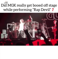"Friends, Memes, and Mgk: FAT  Did MGK really get booed off stage  while performing ""Rap Devil"" ? rapsavages were any of y'all there⁉️ Follow @bars for more ➡️ DM 5 FRIENDS"