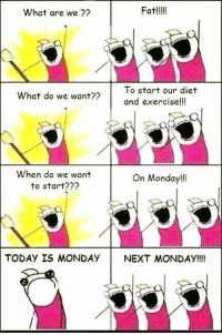 what are we goona do diet when? monday