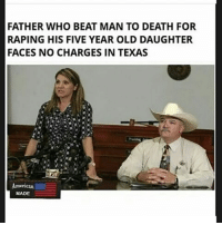 "Butthurt, Facts, and Feminism: FATHER WHO BEAT MAN TO DEATH FOR  RAPING HIS FIVE YEAR OLD DAUGHTER  FACES NO CHARGES IN TEXAS  Ameriean  MADE HOW... THE... FUCK... AM... I... A... PEDOPHILE... DEFENDER • I said I hate pedophiles • I said I believe the father was morally correct • I said if he caught him in the act (which he did, which after finding out I took back my point) then nothing wrong happened • I said I believe nothing should happen to him But it would take an IDIOT to not know that murder is ILLEGAL. Had this not been in defense of the girl the father would've gone to jail as right as he was. We keep saying ""facts over feelings"" and ""fuck your feelings"" and all that shit but get all butthurt when approached with facts. We can't get so blinded in anger that we lose all rationalization. Comment your thoughts @True.conservative.leader Follow my backup: @the.amazing.antifeminist Partners @american.independent @prowomen.antifem @prolife_100percent @british_conservatarian @antifemprincess @political_insight feminists feministshatemen feminism feminismcringe feminismiscancer lesbian cis gay straight bi homophobic trans transgender oppression offended patriarchy sjw sexism reversesexism socialjustice antisjw antisocialjustice antifeminism antifeminist toxicmasculinty equality reversesexism racism trump antifa freespeech"