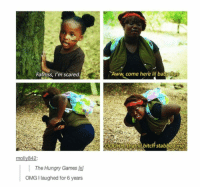 <p>Things are a little different in the hood (via /r/BlackPeopleTwitter)</p>: Fatniss, l'm scared  Aww, come here lil babyRue  molly842  \ The Hungry Games  OMG I laughed for 6 years <p>Things are a little different in the hood (via /r/BlackPeopleTwitter)</p>