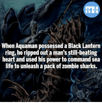 Batman, Definitely, and Life: FATSHERDES  When Aquaman possessed a Black Lantern  ring, he ripped out a man's still-beating  heart and used his power to command sea  life to unleash a pack of zombie sharks. Definitely not making fun of BL Aquaman! - Credit @truecomicfacts - My other IG accounts @factsofflash @yourpoketrivia @webslingerfacts ⠀⠀⠀⠀⠀⠀⠀⠀⠀⠀⠀⠀⠀⠀⠀⠀⠀⠀⠀⠀⠀⠀⠀⠀⠀⠀⠀⠀⠀⠀⠀⠀⠀⠀⠀⠀ ⠀⠀--------------------- batmanvssuperman xmen batman superman wonderwoman deadpool spiderman hulk thor ironman marvel greenlantern theflash wolverine daredevil aquaman justiceleague homecoming blacklantern ezramiller wallywest redhood avengers jasontodd blackpanther tomholland aquaman like4like injustice2