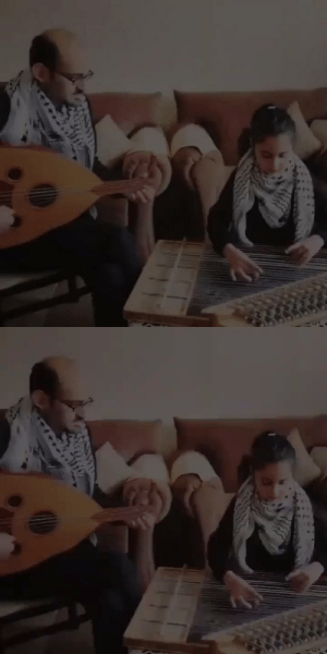 "fayummummyportrait:palestinian girl on the qanun with her father on the oud playing the italian resistance song ""bella ciao"" in solidarity with the people of italy: fayummummyportrait:palestinian girl on the qanun with her father on the oud playing the italian resistance song ""bella ciao"" in solidarity with the people of italy"
