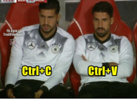 Memes, fb.com, and 🤖: Fb.com/  Trollfootball  Ctrl+C  Ctrl+V Emre Can and Sami Khedira https://t.co/740fGPTzPG