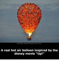 """hot air balloons: FB/These things will blow your mind  A real hot air balloon inspired by the  disney movie """"Up!"""""""
