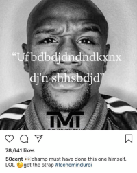 Chill, Lol, and Memes: fbdbdidndndkxnx  di'n shhsbdid  78,641 likes  50cent champ must have done this one himself  LOL eget the strap 50cent literally has zero chill 💀