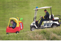 Donald Trump, Fbi, and News: FBI **BREAKING NEWS** Donald Trump is currently involved in a high speed chase following a warrant for his arrest being issued:
