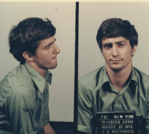 Fbi, Lgbt, and New York: FBI NEW YORK  91-12002 29338  AUGUST 23 1972 ladygolem: historicaltimes:  Mugshot of John Wojtowicz who was sentenced to 20 years in prison for robbing a bank in order to fund his partners sex change. August 23rd 1972, New York via reddit   the only good lgbt ally