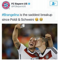 Soccer, Bayern, and Ares: FC Bayern US  @FCBayernus  NCA  #Brangelina is the saddest breakup  since Poldi & Schweini Bayern are savages😂