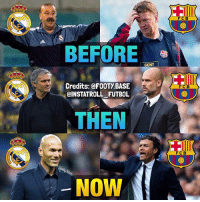 Before, Then, Now 😏: FCB  BEFORE  GENT  Credits: @FOOTy BASE  FCB  CINSTATROLL FUTBOL  THEN  FC B  NOW Before, Then, Now 😏