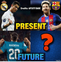 Who can be Messi's heir? 👇 Double Tap & follow me @footy.base for more 🔥: FCB  Credits: @FOOTY BASE  PRESENT  ASENSIO  FUTURE  odi Base Who can be Messi's heir? 👇 Double Tap & follow me @footy.base for more 🔥