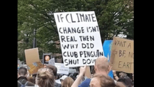 .: FCLIMATE  CHANGE ISNT  REAL THEN  WHY DID  CLUB PENGUIN  SHUT DOV  VANT A  BF N  EART  SEA ORG .