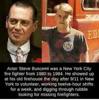 ---------- Check out our store DrunkAmerica.com ---------- Follow our pages! 🇺🇸 @drunkamerica @ragingpatriots ---------- conservative republican maga presidentrump makeamericagreatagain nobama trumptrain trump2017 saturdaysarefortheboy merica usa military supportourtroops thinblueline backtheblue: FD  Actor Steve Buscemi was a New York City  fire fighter from 1980 to 1984. He showed up  at his old firehouse the day after 9/11 in New  York to volunteer, working twelve-hour shifts  for a week, and digging through rubble  looking for missing firefighters. ---------- Check out our store DrunkAmerica.com ---------- Follow our pages! 🇺🇸 @drunkamerica @ragingpatriots ---------- conservative republican maga presidentrump makeamericagreatagain nobama trumptrain trump2017 saturdaysarefortheboy merica usa military supportourtroops thinblueline backtheblue
