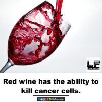 red wine: FE FACTS  Red wine has the ability to  kill cancer cells.