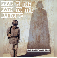 Fear is the path to the darkside… fear leads to anger… anger leads to hate… hate leads to suffering. MasterYoda 4biddenknowledge StopWars: FEAR IS THE  PATH TO THE  OERIDDENKNOWLEDGE Fear is the path to the darkside… fear leads to anger… anger leads to hate… hate leads to suffering. MasterYoda 4biddenknowledge StopWars