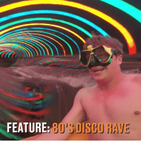 80s, Memes, and Best: FEAT  URE: 80'S DISCO RAVE Testing water slides is the best job in the world 😍💦 Who would apply?