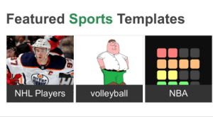 Nba, National Hockey League (NHL), and Sports: Featured Sports Templates  NBA  volleyball  NHL Players Volleyball
