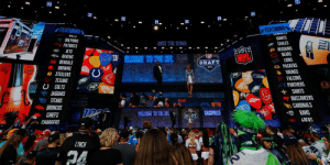 If the 2020 @NFLDraft were today...  Where would YOUR team pick? https://t.co/y29HAZkGGf https://t.co/zJFyMCstq7: FEATURING  FEATURING  UWDUTO  DILLO  GIANTS  EAGLES  DOLPHINS  TAME THE STAGE  PATRIOTS  REDSKINS  BEARS  LIONS  G PACKERS  VIKINGS  FALCONS  PANTHERS  SAINTS  BUCCANEERS  JETS  RAVENS  40BENGALS  NFL  ELCORME TO THE NFL  NFI  DRAFT  BROWNS  e STEELERS  TEXANS  U COLTS  JAGUARS  aTITANS  CARDINALS  RAMS  LAFRS  BRONCOS  WACONE TO THE NFL  CHIEFS  DFT  CHARGERS  LYNCH If the 2020 @NFLDraft were today...  Where would YOUR team pick? https://t.co/y29HAZkGGf https://t.co/zJFyMCstq7