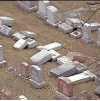 Memes, 🤖, and Vandalism: FEB 20, 2017 A vandal or vandals toppled and damaged more than 100 headstones in a historic Jewish cemetery near StLouis within the past week, police said. The granite and marble tombstones were toppled a time tensions in the nation's Jewish communities are already high. Workers spent part of Tuesday using crane trucks to upright some stones and documenting which memorials will need replacing altogether. Police said they didn't immediately know who did it, or why. Investigators are reviewing security camera footage in the areas surrounding the cemetery but would not say if they considered the vandalism to be a hate crime, according to KTVI, which took this video. (Via @fox2now, @cnn) @worldstar WSHH