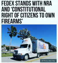 "🇺🇸STANDING STRONG 🇺🇸 FedEx released a statement Monday explaining that the company will maintain its relationship with the NRA and that it supports the ""constitutional right of citizens to own firearms."" The statement comes as more than a dozen other companies caved under the weight of an anti-NRA campaign launched after the Marjory Stoneman Douglas High School shooting. TheRaisedRight.com _________________________________________ Raised Right 5753 Hwy 85 North 2486 Crestview, Fl 32536 _________________________________________ Conservative America SupportOurTroops American Gun Constitution Politics TrumpTrain President Jobs Capitalism Military MikePence TeaParty Republican Mattis TrumpPence Guns AmericaFirst USA Political DonaldTrump Freedom Liberty Veteran Patriot Prolife Government PresidentTrump Partners @conservative_panda @reasonoveremotion @conservative.american @too_savage_for_democrats @raging_patriots @keepamerica.usa --------------------: FEDEX STANDS WITH NRA  AND 'CONSTITUTIONAL  RIGHT OF CITIZENS TO OWN  FIREARMS  Est  AP Photo/Alan Diaz 🇺🇸STANDING STRONG 🇺🇸 FedEx released a statement Monday explaining that the company will maintain its relationship with the NRA and that it supports the ""constitutional right of citizens to own firearms."" The statement comes as more than a dozen other companies caved under the weight of an anti-NRA campaign launched after the Marjory Stoneman Douglas High School shooting. TheRaisedRight.com _________________________________________ Raised Right 5753 Hwy 85 North 2486 Crestview, Fl 32536 _________________________________________ Conservative America SupportOurTroops American Gun Constitution Politics TrumpTrain President Jobs Capitalism Military MikePence TeaParty Republican Mattis TrumpPence Guns AmericaFirst USA Political DonaldTrump Freedom Liberty Veteran Patriot Prolife Government PresidentTrump Partners @conservative_panda @reasonoveremotion @conservative.american @too_savage_for_democrats @raging_patriots @keepamerica.usa --------------------"
