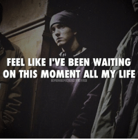 Eminem, Life, and Memes: FEEL LIKE I'VE BEEN WAITING  ON THIS MOMENT ALL MY LIFE  EMINEM LICITE Yo this is my time eminem