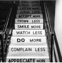 GoodAfternoon: FEEL MOR  TALK LESS  LISTEN MORE  JUDGE LESS  ACCEPT MORE  FROWN LESS  SMILE MORE  WATCH LESS  DO MORE  COMPLAIN LESS  APPRECIATE MORE GoodAfternoon