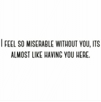 (@lei.ying.lo) GTFO of my life you make me miserable... No wait come back I'm miserable without you too. thenewsclan dating love belike shit mindfuck indesisive accurate af same: FEEL SO MISERABLE WITHOUT YOU, ITS  ALMOST LIKE HAVING YOU HEAE (@lei.ying.lo) GTFO of my life you make me miserable... No wait come back I'm miserable without you too. thenewsclan dating love belike shit mindfuck indesisive accurate af same