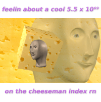 Cool, Index, and The: feelin about a cool 5.5 x 1069  on the cheeseman index rn