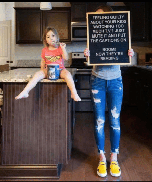 Just saying via /r/funny https://ift.tt/2SMHuLZ: FEELING GUILTY  ABOUT YOUR KIDS  WATCHING TOO  MUCH T.V.? JUST  MUTE IT AND PUT  THE CAPTIONS ON  BOOM  NOW THEY'RE  READING  TAXI  TAXI Just saying via /r/funny https://ift.tt/2SMHuLZ