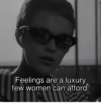 Women, Can, and Breathless: Feelings are a luxury  few women can afford Breathless (1960)