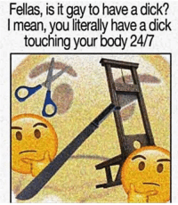 """<p>Fellas, is it gay memes on the rise. Seems like a wise investment via /r/MemeEconomy <a href=""""http://ift.tt/2goYxVG"""">http://ift.tt/2goYxVG</a></p>: Fellas, is it gay to have a dick?  l mean, you literally have a dick  touching your body 24/7 <p>Fellas, is it gay memes on the rise. Seems like a wise investment via /r/MemeEconomy <a href=""""http://ift.tt/2goYxVG"""">http://ift.tt/2goYxVG</a></p>"""