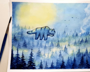 Felt like painting today. Inspired by book 2: episode 16 (appa's lost days): Felt like painting today. Inspired by book 2: episode 16 (appa's lost days)