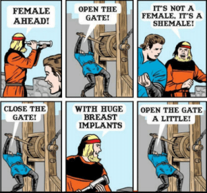 Open the gate!: FEMALE  AHEAD!  OPEN THE  GATE  ITS NOT A  FEMALE, IT S A  SHEMALE!  WITH HUGE OPEN THE GATE  CLOSE THE  GATE!  BREAST  IMPLANTS  A LITTLE! Open the gate!