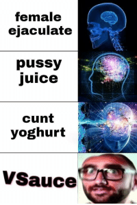 Juice, Pussy, and Cunt: female  ejaculate  pussy  juice  cunt  yoghurt  VSauce