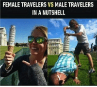 travelers: FEMALE TRAVELERS VS MALE TRAVELERS  IN A NUTSHELL