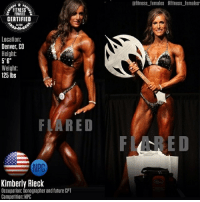 """Kimberly: FEMALES  CERTIFIED  Location:  Denver, CO  Height  5'6""""  Weight:  125 lbs  FLARED  Kimberly Rieck  Occupation: Sonographer and future CPT  Competition: NPC  afitness females #fitness females"""