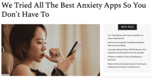 femestella: There's a lot to be anxious about these days. And finding ways to keep your anxiety in check can be hard, especially if you can't afford to get professional help. So, if you're looking for a few free options to help you relax, we've reviewed the eight best apps to help you ease your anxiety. Read it here : femestella: There's a lot to be anxious about these days. And finding ways to keep your anxiety in check can be hard, especially if you can't afford to get professional help. So, if you're looking for a few free options to help you relax, we've reviewed the eight best apps to help you ease your anxiety. Read it here