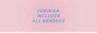 <p>Then why do so many feminists lose their shit if you dare bring up the idea that women might not have all the problems of universe?</p>: FEMINISM  INCLUDES  ALL GENDERS <p>Then why do so many feminists lose their shit if you dare bring up the idea that women might not have all the problems of universe?</p>