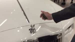 fencehopping: Anti-theft mechanism built into the hood ornament of a Rolls Royce: fencehopping: Anti-theft mechanism built into the hood ornament of a Rolls Royce