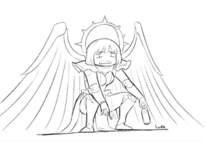 feniczoroark:  boltertokokoro:    I just wanted to draw St Celestine with her feet on the ground since I've never seen any official art with it. Somehow it became this instead.     @randomnightlord : feniczoroark:  boltertokokoro:    I just wanted to draw St Celestine with her feet on the ground since I've never seen any official art with it. Somehow it became this instead.     @randomnightlord
