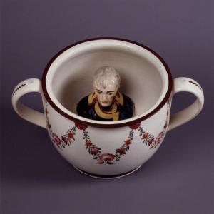Period, Tumblr, and Blog: feniczoroark:  historyarchaeologyartefacts:  A British Chamberpot with a built-in small bust of Napoleon Bonaparte, so you could poo/pee on him. From the Napoleonic period, ca. 1803-1805 [1000x999]SWITCH TO FIREFOX AND ADD UBLOCK ORIGIN  This is gloriousHey, @randomnightlord , thoughts?  I want 10.