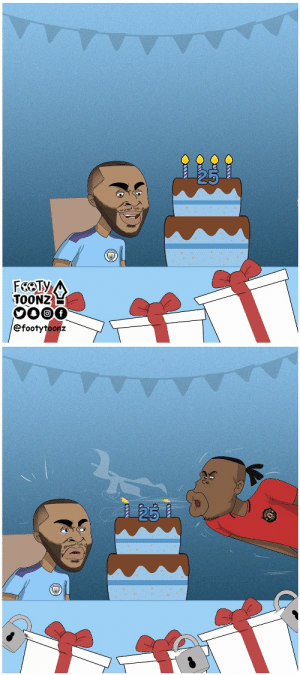 Happy Birthday Raheem Sterling (📷: @FootyToonz ) https://t.co/hBuLZaszq6: FEOTY  TOONZ  0000  efootytoonz   25 Happy Birthday Raheem Sterling (📷: @FootyToonz ) https://t.co/hBuLZaszq6