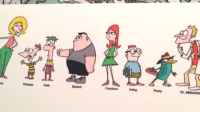 """Disney, Tumblr, and Phineas and Ferb: Ferb  irving  Penny  Dr. Mitteishl <p><a href=""""https://libertarirynn.tumblr.com/post/174309996314/early-phineas-and-ferb-concept-art"""" class=""""tumblr_blog"""">libertarirynn</a>:</p>  <blockquote><p>Early Phineas and Ferb concept art</p></blockquote>  <p>These drawings are actually from the mid 90s. Povenmire and Marsh pitched the show to multiple networks for over a decade before finally getting Disney to take a chance on them. Never give up on your dream projects.</p>"""