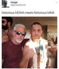 Meme, Memes, and Good Morning: Fergal  @gordonkiernan  Notorious MDMA meets Notorious MMA Good morning meme fans ❤️💙 @waynelineker is a ledge for posting this 😂😂
