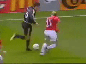 Memes, 🤖, and Player: Fernando Redondo was a quality player!   Here he is taking the piss out of Henning Berg.... https://t.co/sTkDvtEP6x
