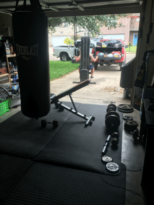 Few hours of cleaning out moms garage. traveling all over Texas for fitness equipment .. I finally have a nice little set up. Found equipment in Odessa (job location), San Antonio, Corpus Christi, and some items I already had here in McAllen(home). 👌🏼: Few hours of cleaning out moms garage. traveling all over Texas for fitness equipment .. I finally have a nice little set up. Found equipment in Odessa (job location), San Antonio, Corpus Christi, and some items I already had here in McAllen(home). 👌🏼