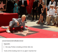 """Fucking Nerd: FFAME.COM  concernedresidentofbakerstreet  hippostin:  the way Portia is looking at Ellen kills me  """"look at this fucking nerd im so glad i married her  ook at this fucking nerd im so glad i maried her"""