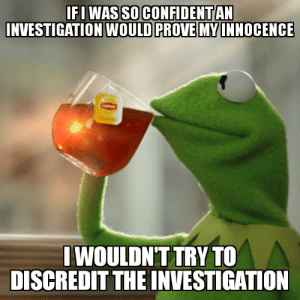 Business, None of My Business, and  None: FI WAS SO CONFIDENTAN  NVESTIGATION WOULD PROVE MYINNOCENCE   WOULDNT TRY TO  DISCREDIT THE INVESTIGATION But thats none of my business