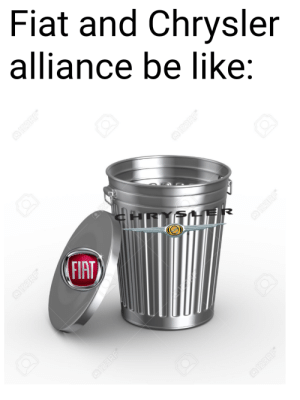 Be Like, Cars, and Trash: Fiat and Chrysler  alliance be like:  @123RF  OI23RF  FIAT  0123RF  23 RF  0123 RF  2123RF Trash combo!